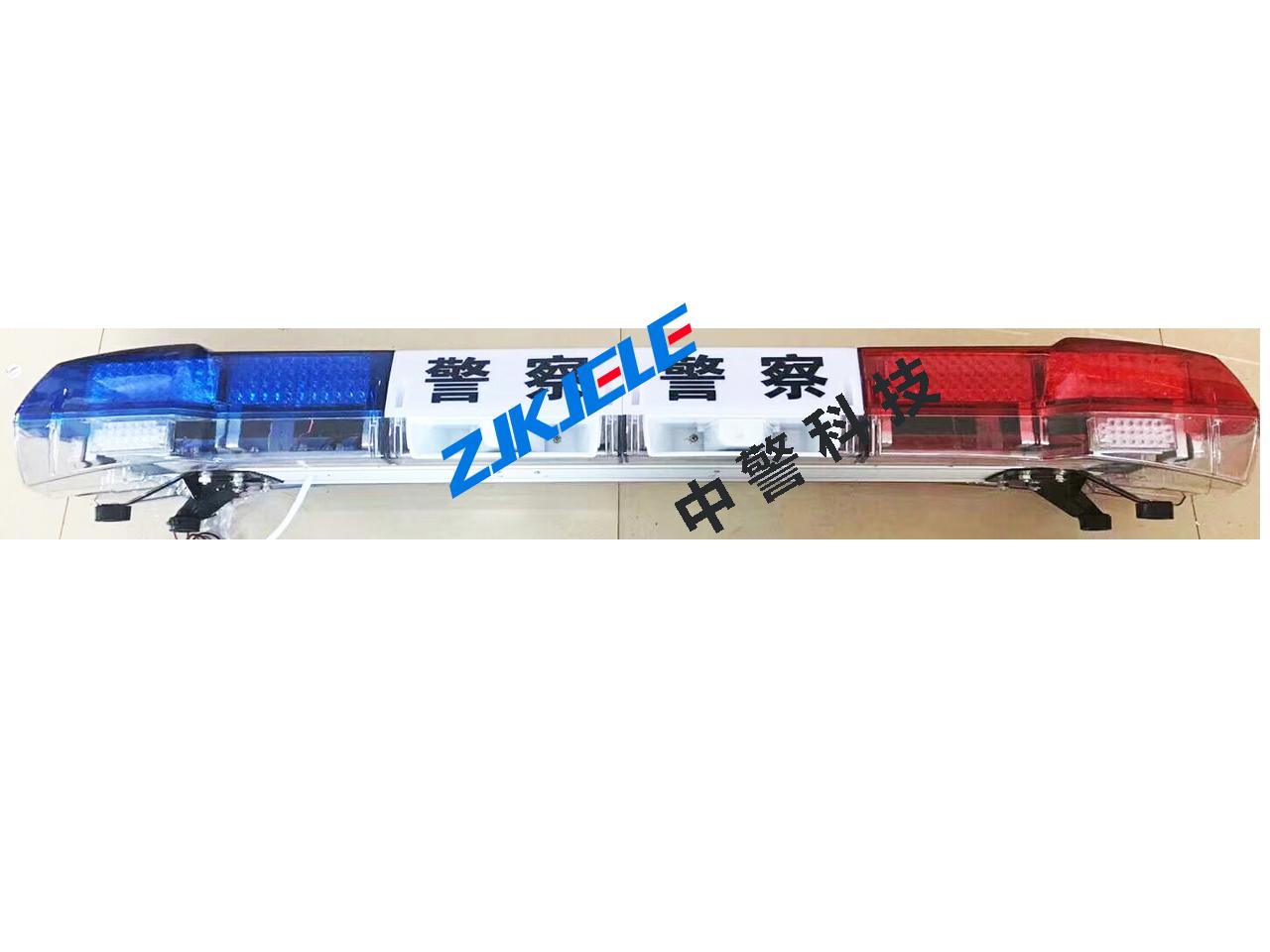 警灯加长公安警灯双喇叭1.6米工字红蓝警灯LED爆闪