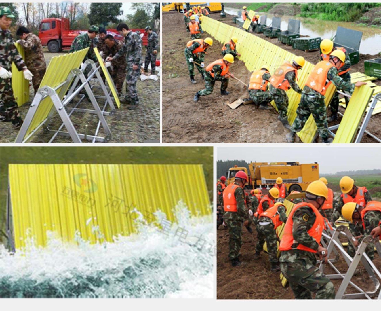 装拆运输方便 折叠式防洪子堤 板坝式防汛子堤安装