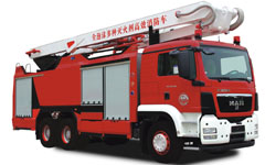 全泡沫多种灭火剂举高喷射消防车