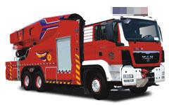 新型涡喷七泡沫/水罐消防车
