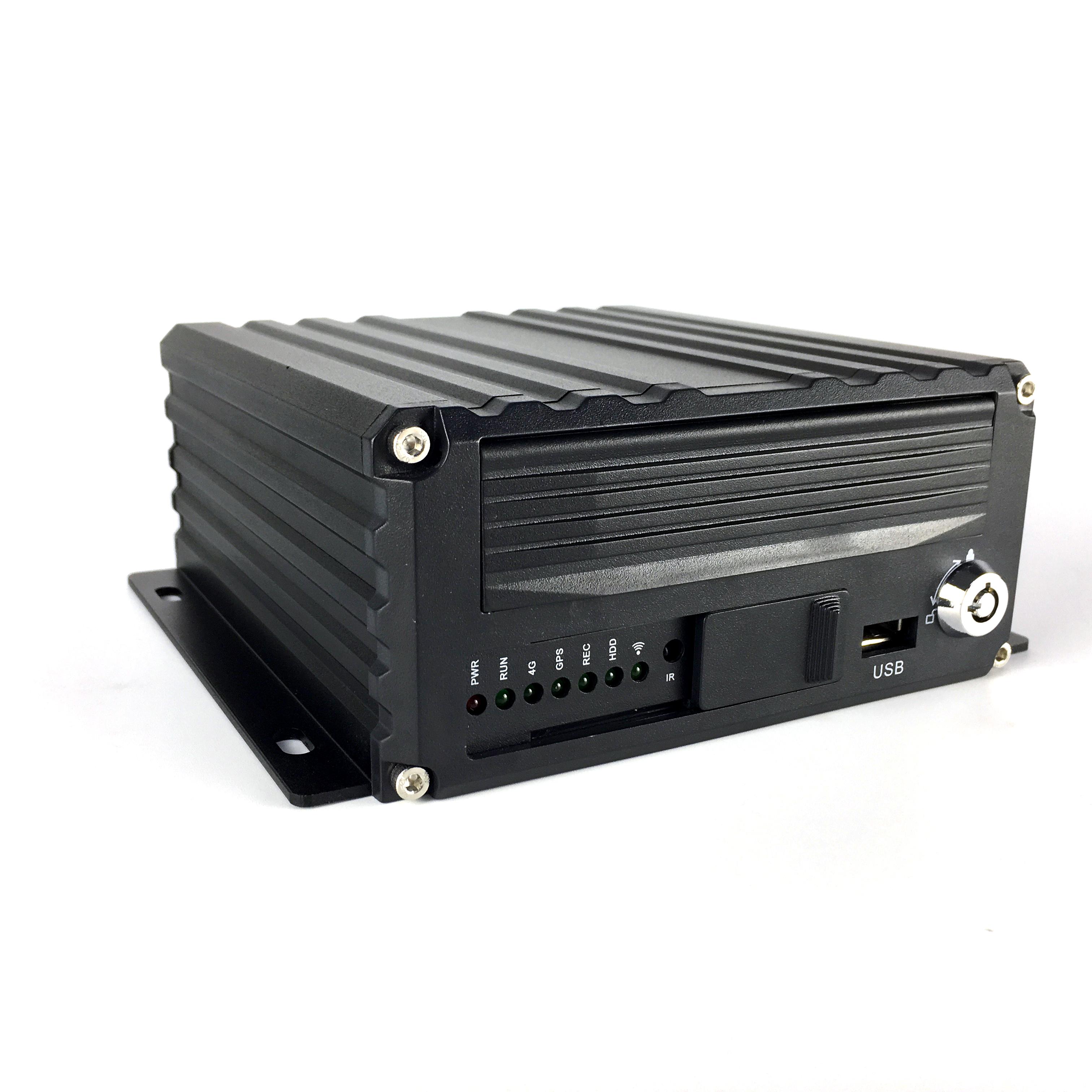 4路720P硬盘车载录像机