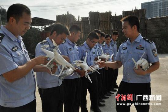 广西钦州市森林公安局投入警用无人机装备监控林区