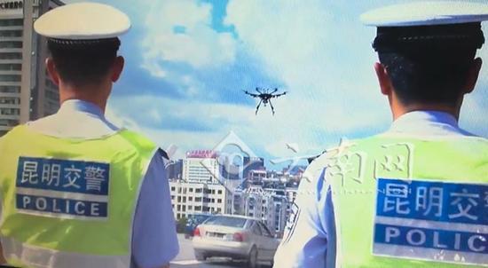 昆明交警明起用无人机辅助二环交通管理,自带喇叭可喊话