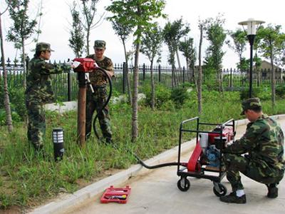 防汛软轴打桩机 防汛抗旱专用小型打桩机 小型植桩机