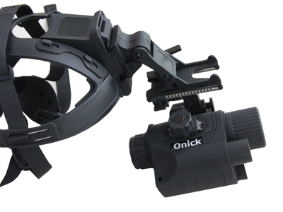 欧尼卡单筒微光夜视仪头盔式